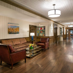 Extra-wide hallways - Featuring lavish woodwork crafted by hand, museum-quality paintings and custom furniture.